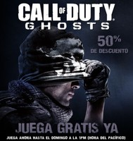 ¿Queréis jugar gratis a Call of Duty: Ghosts en Steam? Podéis hasta el domingo