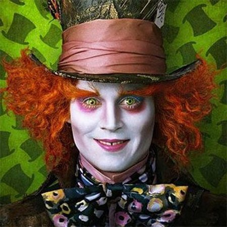 Maquillaje de Halloween para hombre  Johnny Deep en  Alicia en el país de  las maravillas  fb15ae85dd3