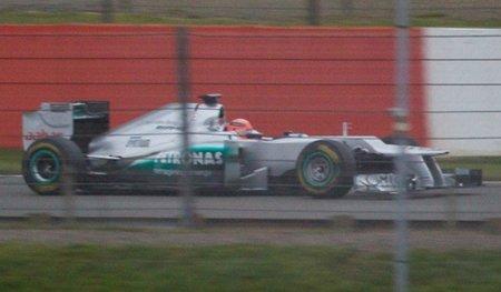 Desvelada nueva imagen espía del Mercedes F1 AMG W03