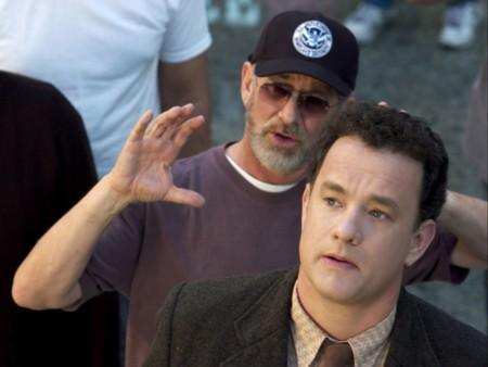 Spielberg y Tom Hanks en el rodaje de La Terminal