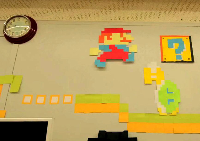 Mario Bros de post it por FinalCutKing