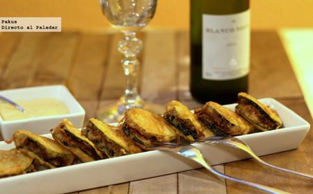 Mini emparedados de calabacín y carne especiada, receta para un picoteo sabroso y original