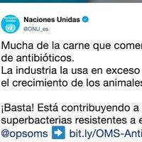 La carne que consumimos no está llena de antibióticos (aunque lo diga la ONU en twitter)
