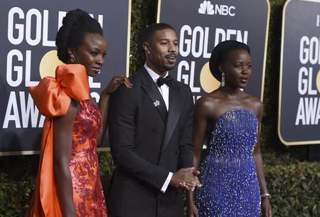 Globos de Oro 2019: Lupita Nyong'o se enfunda en un sinfín de pedrería, en este caso el más es más resulta glorioso