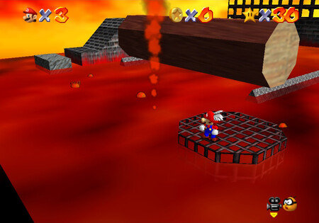Super Mario 64: cómo conseguir la estrella Red-Hot Log Rolling de Lethal Lava Land