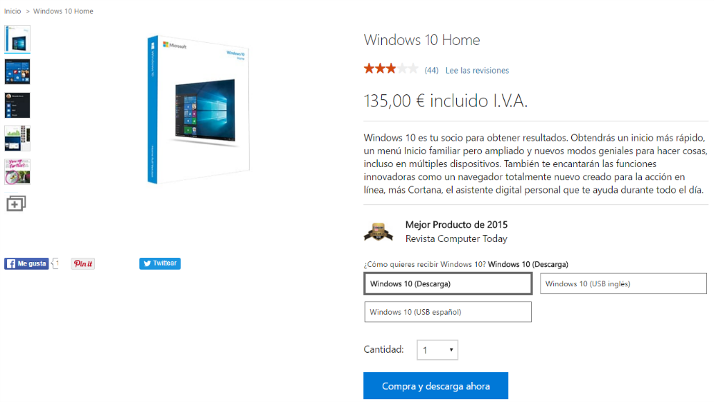Comprar Windows™ 10