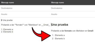 Usa Markdown para formatear correos electrónicos con Markdown Here