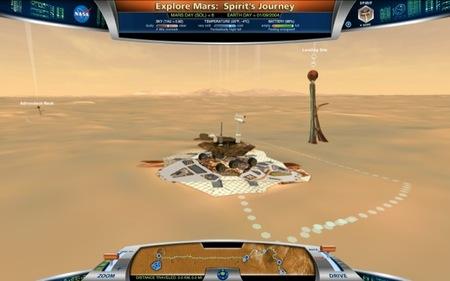 Una aplicación de la NASA permite recorrer Marte con el robot Spirit