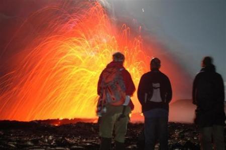 Una Nochevieja insólita en un volcán en Hawai