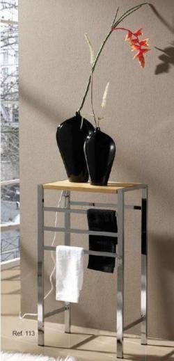 Radiador mesita y radiador escalera, más toalleros multifunción para el baño