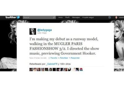 Dios los cría y Formichetti los junta. Lady Gaga desfila hoy para Mugler.