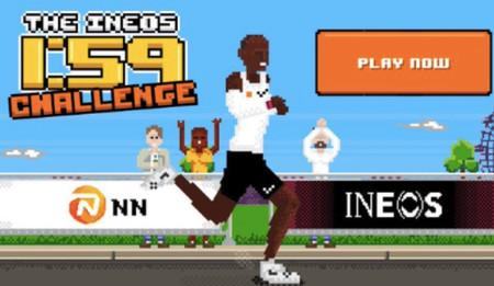 Calentando motores para el reto de Kipchoge en Viena: ayúdale a bajar de dos horas en maratón con este videojuego retro