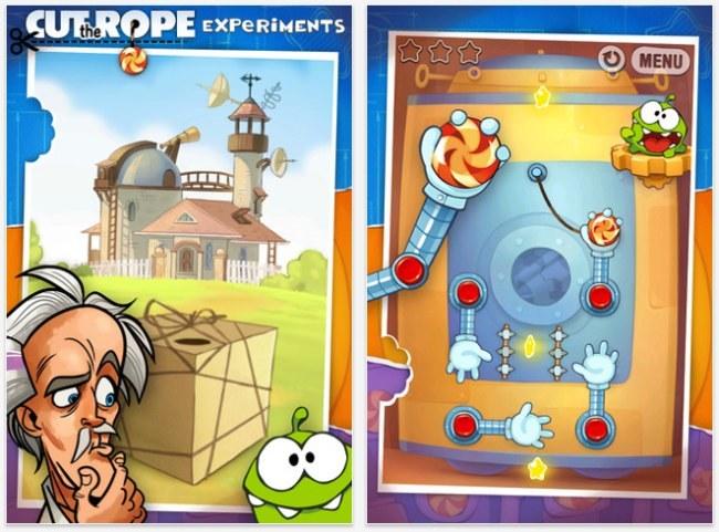 Cut The Rope Experiments, gratis por tiempo limitado en la App Store