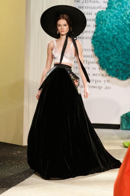 Ulyana Sergeenko Alta Costura primavera-verano 2013: cuando Escarlata O'Hara visita Moscú