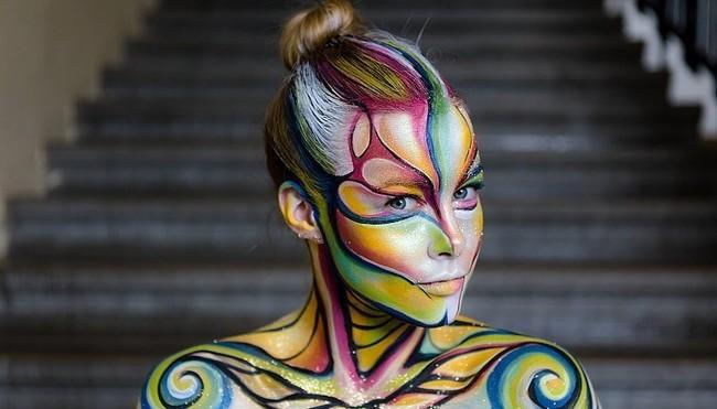 world festival bodypainting maquillaje arte