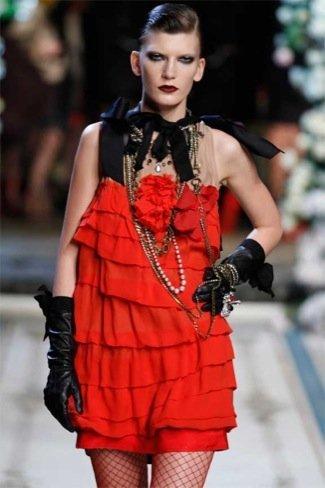 Lanvin HM, colección Alta Costura, vestido coctel rojo