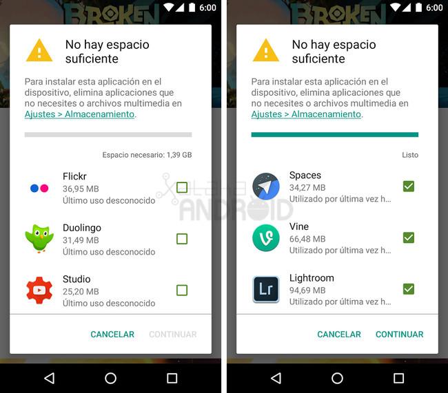 Google Play Espacio