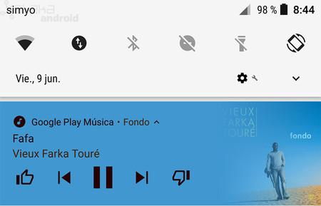 Novedad en Android O: así de coloridas son ahora las notificaciones multimedia