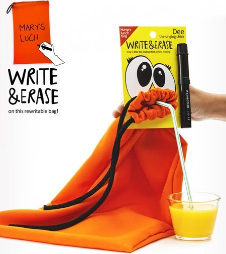 bolsa para merienda Hungry lunch bag naranja