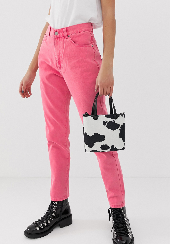 Vaqueros mom rosa de tiro alto Nora de Dr Denim