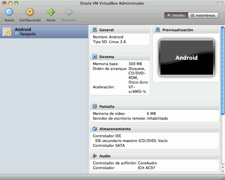 Instalación de Máquina Virtual de Android en VirtualBox