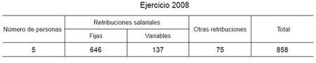 retribuciones 2008 ico