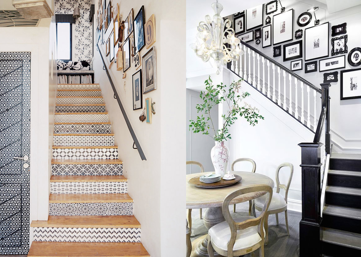21 ideas para darle color y estilo a las escaleras de tu casa for Escalera interior casa