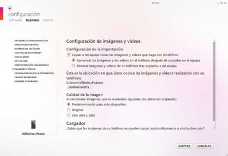 Conversion de audio y video Zune