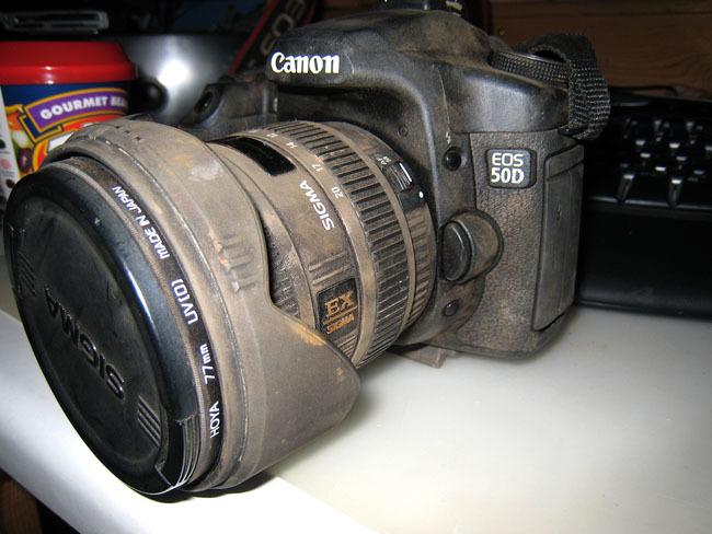cámara sucia