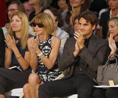 Anna Wintour estilista de Roger Federer ¿y algo más?