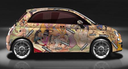 Kar_masutra: este Fiat 500 está decorado con posturas del kamasutra