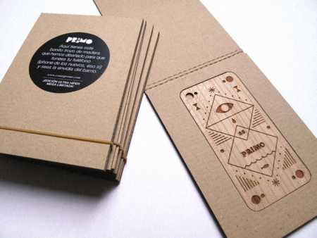 Tapa de madera trasera para iPhone de Cosas Primo