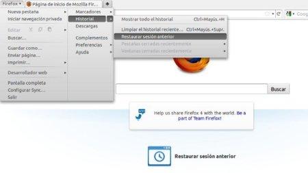 Cómo configurar cuantas pestañas se cargan al restaurar sesión en Firefox 4