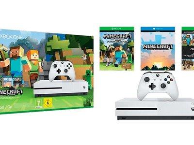 No te aburras estas vacaciones: el pack XBox One S con Minecraft, sólo esta mañana en Mediamarkt, está rebajado a 229 euros