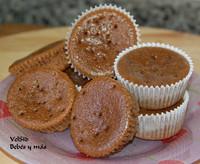 Muffins de cacao, receta casera