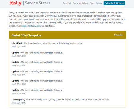 Fastly Status