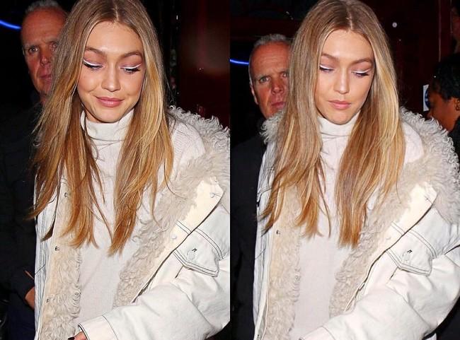 gigi hadid eyeliner blanco maquillaje look beauty