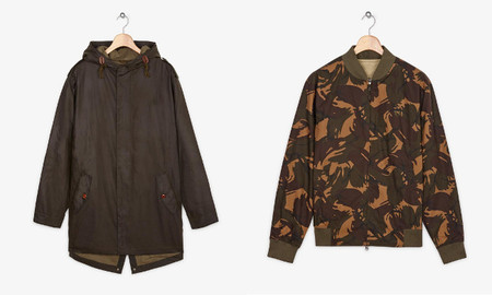 camo parka fred perry
