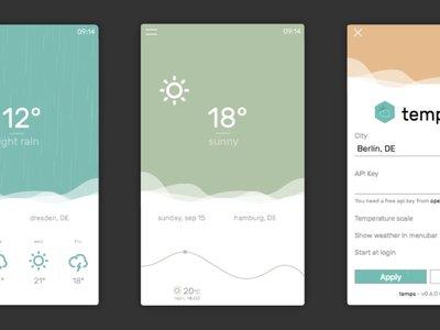 Temps, una app meteorológica para escritorio con una interfaz a lo Material Design