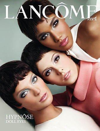 Daria Werbowy, Arlenis Sosa y Elettra, imagen de la campaña de Lancôme Hypnose Doll Eyes