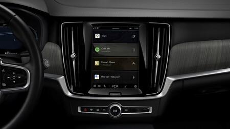 Interior del Volvo XC40 Recharge Eléctrico Puro con sistema Google