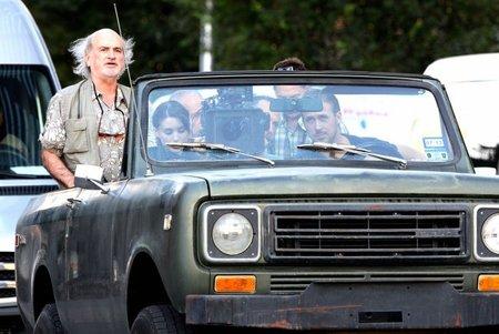 Terrence Malick supervisa el rodaje de una escena de Lawless con Rooney Mara y Gosling
