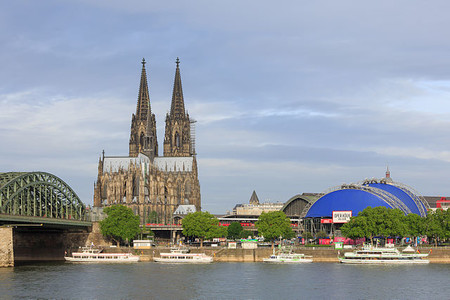 Cologne Germany Exterior View Of Cologne Cathedral 04