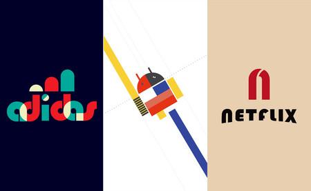 Los logotipos de Apple, Adidas o Netflix, entre otros muchos, rediseñados al estilo de la Bauhaus