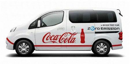 Nissan y Coca-Cola lanzan un proyecto conjunto para probar las E-NV200