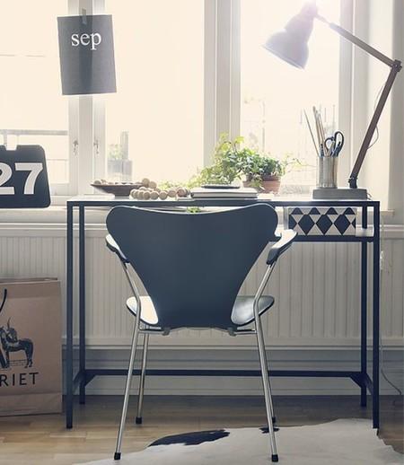 Un rincón luminoso, perfecto para un despacho