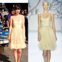 Zooey Deschanel y los strapless dress