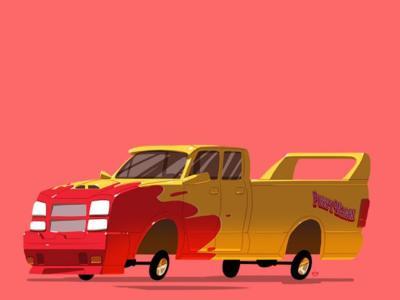 Los coches más famosos de la televisión y el cine, ilustrados por Ido Yehimovitz