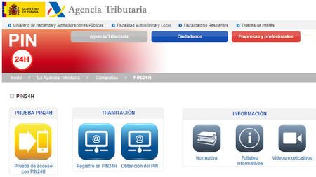 La Agencia Tributaria facilita la obtención del PIN24H vía postal