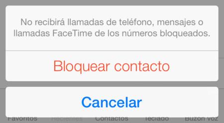 Bloquear contactos en iOS 7